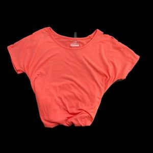 Tek Gear coral short sleeve top with cage cutouts